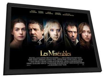 Les Miserables - 27 x 40 Cast Poster - in Deluxe Wood Frame