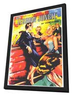 Lesbian Jungle - 11 x 17 Retro Book Cover Poster - in Deluxe Wood Frame