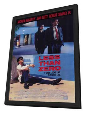 Less Than Zero - 27 x 40 Movie Poster - Style A - in Deluxe Wood Frame