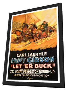 Let 'er Buck - 27 x 40 Movie Poster - Style A - in Deluxe Wood Frame