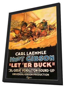 Let 'er Buck - 11 x 17 Movie Poster - Style A - in Deluxe Wood Frame