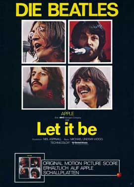 Let It Be - 11 x 17 Movie Poster - German Style A