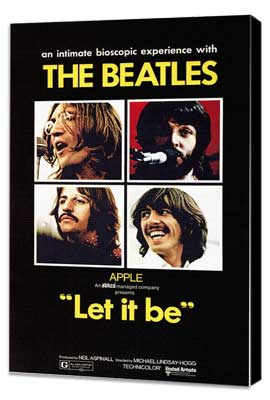 Let It Be - 11 x 17 Movie Poster - Style A - Museum Wrapped Canvas