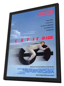 Let It Ride - 27 x 40 Movie Poster - Style A - in Deluxe Wood Frame