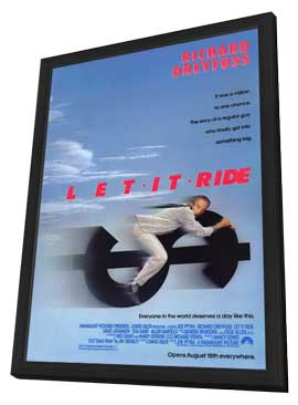Let It Ride - 11 x 17 Movie Poster - Style A - in Deluxe Wood Frame