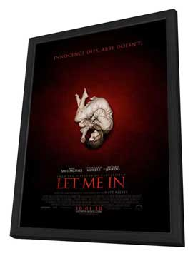 Let Me In - 27 x 40 Movie Poster - Style A - in Deluxe Wood Frame