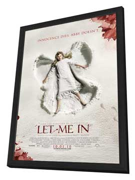 Let Me In - 27 x 40 Movie Poster - Style B - in Deluxe Wood Frame