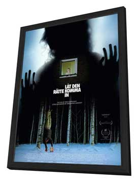 Let the Right One In - 11 x 17 Movie Poster - Swedish Style A - in Deluxe Wood Frame