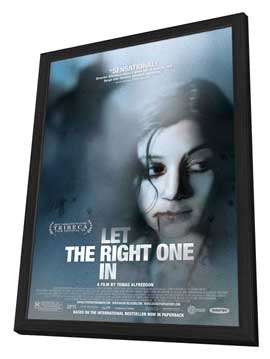 Let the Right One In - 27 x 40 Movie Poster - Style A - in Deluxe Wood Frame