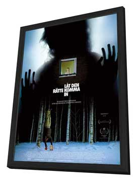 Let the Right One In - 27 x 40 Movie Poster - Swedish Style A - in Deluxe Wood Frame