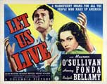 Let Us Live - 22 x 28 Movie Poster - Half Sheet Style A