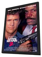 Lethal Weapon 2 - 11 x 17 Movie Poster - Style A - in Deluxe Wood Frame