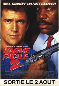 Lethal Weapon 2 - 30 x 40 Movie Poster - French Style A