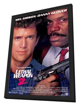 Lethal Weapon 2 - 27 x 40 Movie Poster - Style A - in Deluxe Wood Frame