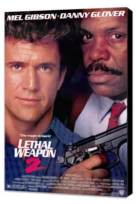 Lethal Weapon 2 - 27 x 40 Movie Poster - Style A - Museum Wrapped Canvas