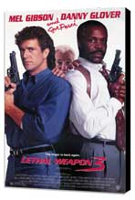 Lethal Weapon 3 - 27 x 40 Movie Poster - Style A - Museum Wrapped Canvas