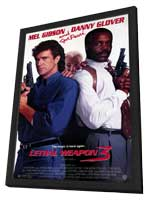Lethal Weapon 3 - 11 x 17 Movie Poster - Style A - in Deluxe Wood Frame