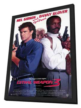 Lethal Weapon 3 - 27 x 40 Movie Poster - Style A - in Deluxe Wood Frame