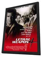 Lethal Weapon 4 - 11 x 17 Movie Poster - Style A - in Deluxe Wood Frame