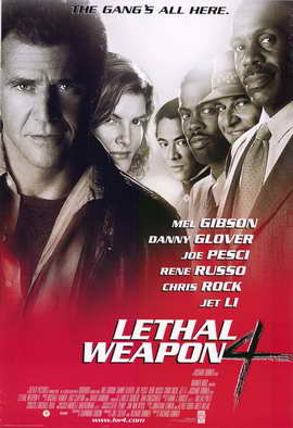 Lethal Weapon 4 - 11 x 17 Movie Poster - Style B