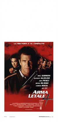 Lethal Weapon 4 - 13 x 28 Movie Poster - Italian Style A