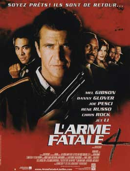 Lethal Weapon 4 - 11 x 17 Movie Poster - French Style A