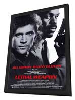 Lethal Weapon - 27 x 40 Movie Poster - Style A - in Deluxe Wood Frame