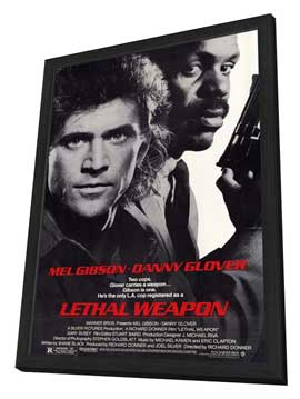 Lethal Weapon - 11 x 17 Movie Poster - Style A - in Deluxe Wood Frame