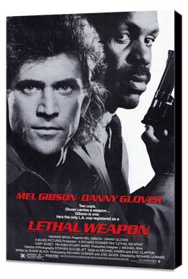 Lethal Weapon - 27 x 40 Movie Poster - Style A - Museum Wrapped Canvas