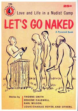 Let's Go Naked - 11 x 17 Retro Book Cover Poster