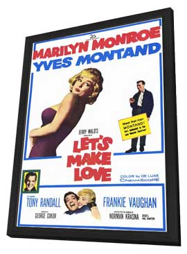 Let's Make Love - 11 x 17 Movie Poster - Style A - in Deluxe Wood Frame