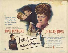 Letter from an Unknown Woman - 11 x 14 Movie Poster - Style A