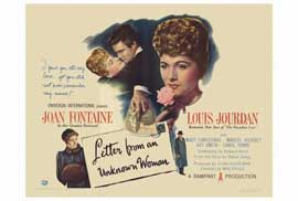Letter from an Unknown Woman - 27 x 40 Movie Poster - Style A