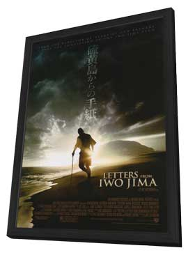 Letters from Iwo Jima - 27 x 40 Movie Poster - Style G - in Deluxe Wood Frame