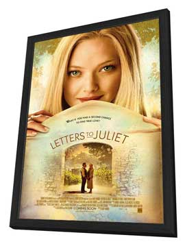Letters to Juliet - 27 x 40 Movie Poster - Style A - in Deluxe Wood Frame
