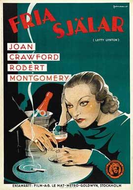 Letty Lynton - 27 x 40 Movie Poster - Swedish Style A