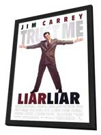 Liar Liar - 27 x 40 Movie Poster - Style A - in Deluxe Wood Frame