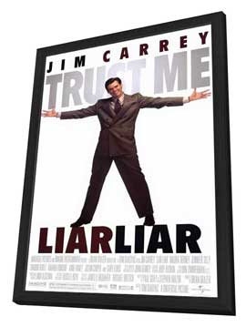 Liar Liar - 11 x 17 Movie Poster - Style A - in Deluxe Wood Frame