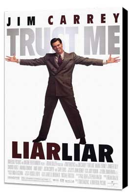 Liar Liar - 11 x 17 Movie Poster - Style A - Museum Wrapped Canvas