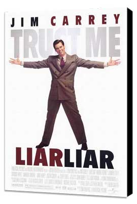 Liar Liar - 27 x 40 Movie Poster - Style A - Museum Wrapped Canvas