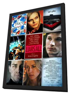 Liars All - 11 x 17 Movie Poster - Style C - in Deluxe Wood Frame