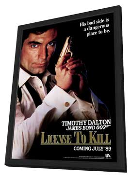 Licence to Kill - 11 x 17 Movie Poster - Style C - in Deluxe Wood Frame