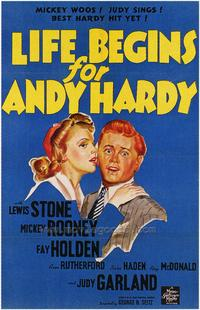 Life Begins for Andy Hardy - 27 x 40 Movie Poster - Style A