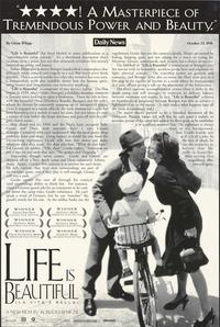 Life Is Beautiful - 43 x 62 Movie Poster - Bus Shelter Style B