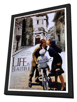 Life Is Beautiful - 27 x 40 Movie Poster - Style A - in Deluxe Wood Frame