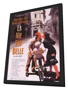 Life Is Beautiful - 27 x 40 Movie Poster - Style D - in Deluxe Wood Frame