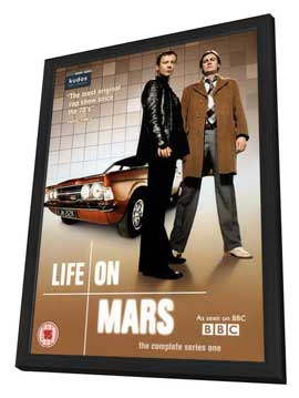 Life on Mars (TV) - 11 x 17 TV Poster - UK Style B - in Deluxe Wood Frame