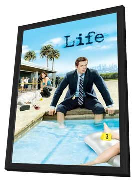 Life - 11 x 17 TV Poster - Style C - in Deluxe Wood Frame