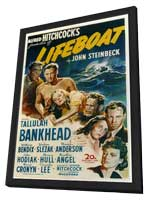Lifeboat - 11 x 17 Movie Poster - Style A - in Deluxe Wood Frame
