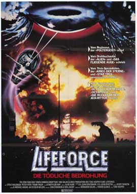 Lifeforce - 27 x 40 Movie Poster - German Style A